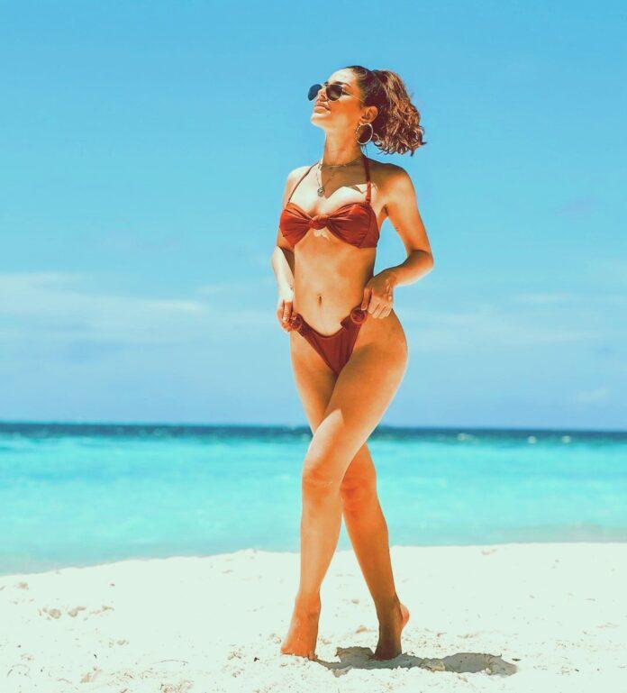 Alaya Furniturewala in bikini maldives