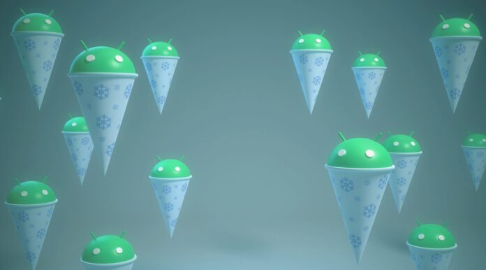 android 12 snow cone dessert