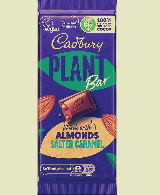 cadbury vegan plant bar salted caramel